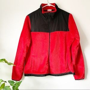 Red North Face look alike jacket!